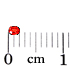 Страз: алый, 2мм,<br><nobr>(круглый, стекло)</nobr>