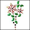 Цветочные и растительные аппликации