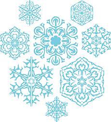 Восемь снежинок