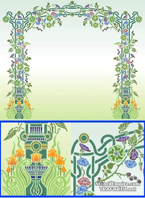 Трафарет Цветочная арка Модерн