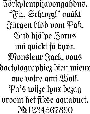 Gotiikka fontti