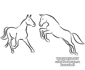 Трафарет Две лошади 3а