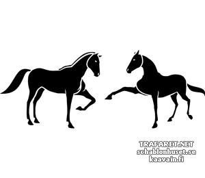 Трафарет Две лошади 5б