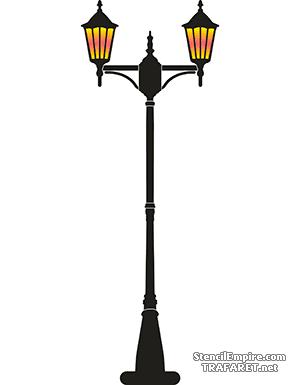Трафарет Большой фонарь 015