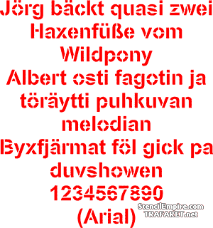 Sapluuna Arial fontti (tavallinen)