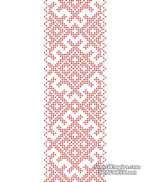 Трафарет Русская вышивка 015