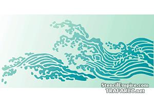 Трафарет Морская волна
