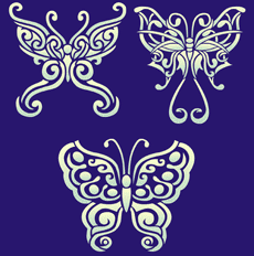 Бабочки тату 01