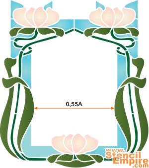 Рамка из лилий