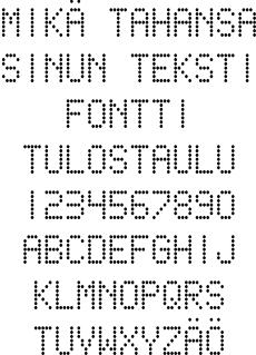 Tulostaulu fontti