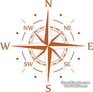 Трафарет Большой компас
