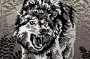 Трафарет Злобный волк