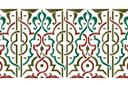 Бордюр арабеска 25