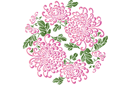 Медальон китайских хризантем 2