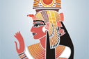 Трафарет Нефертити фреска