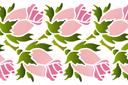 Трафарет Двойной бордюр из роз