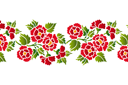 Трафарет Декоративный букет 031б