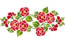 Трафарет Декоративный букет 031в