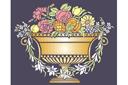 Ваза с фруктами и цветами