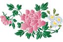Хризантемы и ромашки В
