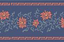 Трафарет Бордюр с восточными цветами