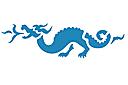Трафарет Пражский дракончик