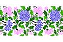 Бордюр из хризантем