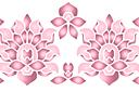 Бордюр из цветущих лотосов В