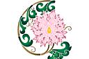 Восточная ветка хризантемы