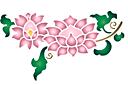 Ветка с хризантемами А
