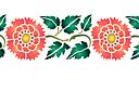 Красная китайская хризантема В