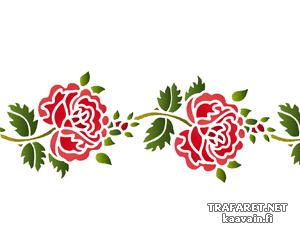 Трафарет Фолк роза 11б