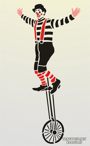 Клоун на моноцикле