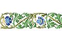 трафарет Стилизованные цветы 1