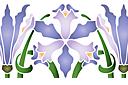 трафарет Фиолетовые ирисы